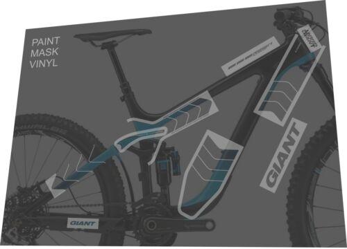 GIANT Reign Advanced 27.5 0 Team 2015 Masking Tape Frame Sticker Decal Set