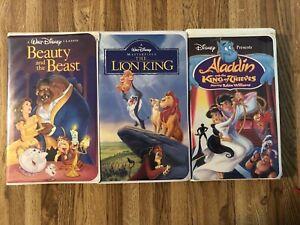 Walt-Disney-Rare-Collection-VHS-The-Lion-King-Beauty-amp-The-Beast-Aladdin