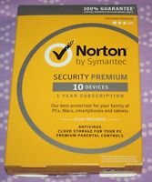Brand Norton Security Premium - 10 Devices - Windows/mac [key Card]
