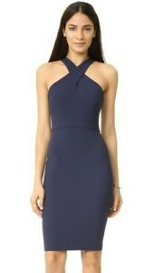 Likely-188-Navy-Blue-Carolyn-Twist-Neck-Bodycon-Sheath-Dress-SZ-0-XS