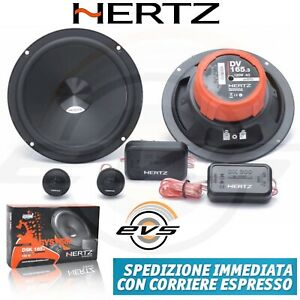 Hertz-DSK165-3-Kit-4-Casse-Altoparlanti-Auto-Woofer-Tweeter-Crossover-160W-NUOVO