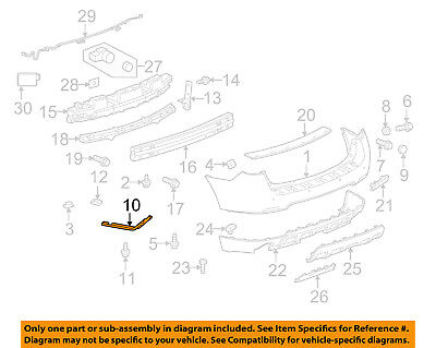 OEM NEW Rear Left Bumper Side Bracket Guide 2010-2017 Chevrolet Equinox 23226001