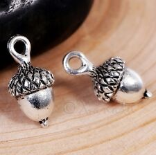 10 or 20PCs Acorn Charms 19mm Antiqued Bronze Autumn Pendants C5474-5