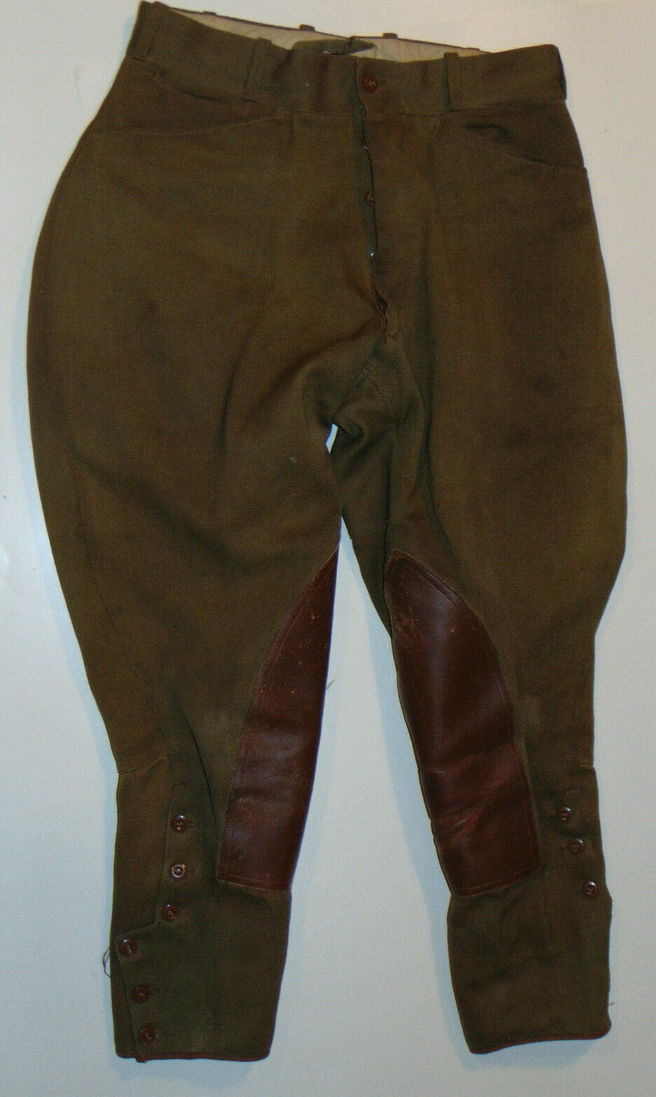 VTG 1910s20s equestre PANTS  LEATHER KNEE PATCHESBUTTON FLYPHILA  30 WAIST