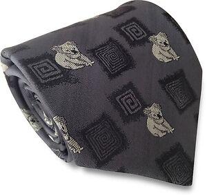 Mens-Grey-Standard-Traditional-Tie-with-Woven-Australian-Koala-Bear-Motifs
