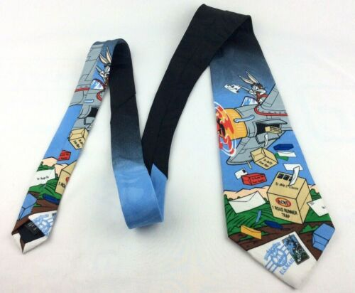 1997 Loony Toon Stamp Collection Bugs Bunny Tie