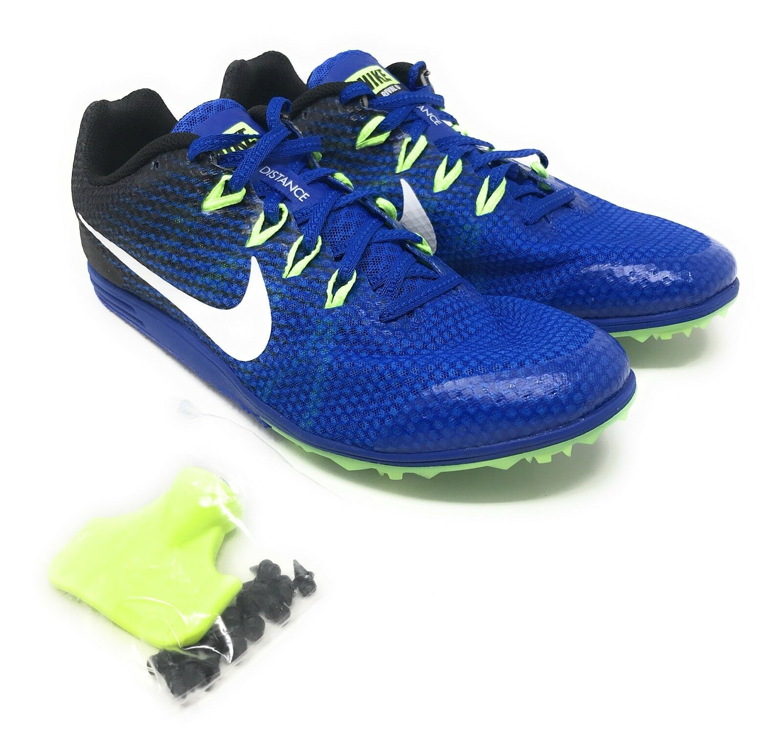 New Nike Zoom Rival D 9 Track Shoes Men's Blue/Black/White? 806556-413?Size 10