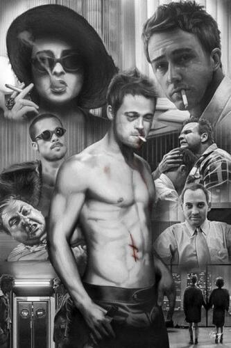 Fight Club von Zack Garvey Maxi Poster 61cm X 91.5cm Neu und Ovp