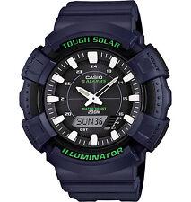 Casio Solar Analog/Digital Watch, Blue Resin, 200 Meter, 5 Alarms, ADS800WH-2AV