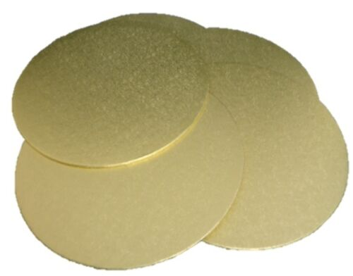 Details about  10 x 10inch Professional Gold Round Turned Edged Cake Board Base 3mm Thick #1C1