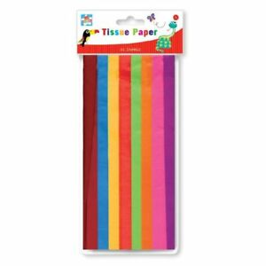 16-fogli-assortiti-colorati-tessuto-carta-regalo-Wrap-occasioni-Arte-Bambini-Craft