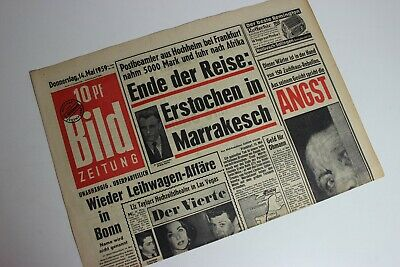 Geburtstag BILDzeitung 30.06.1959 Juni 30.6.1959 Geschenk 61 64 62 63 65