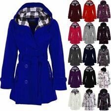 Bouton Militaire Hiver pour femme à capuche vestes chaude épaisse ceinture manteaux 8-14 Neuf