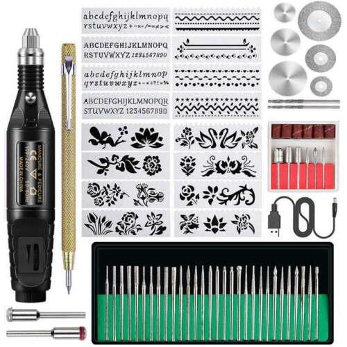 70pcs Electric Micro-Engraver Pen Mini Diy Engraving Tool Kit For Metal Glass XY