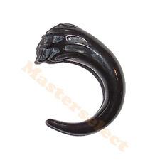 Ecarteur noir pour oreille avec tête de mort