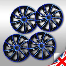 """16 Inch WHEEL TRIMS 4 x 16/"""" HUB CAPS ABS Plastic Universal Push-In ////// NRM072"""
