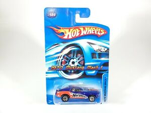 2006-HOT-WHEELS-1970-MUSTANG-MACH-1-125-BLUE-IN-PROTECTOR-1-64-DIECAST