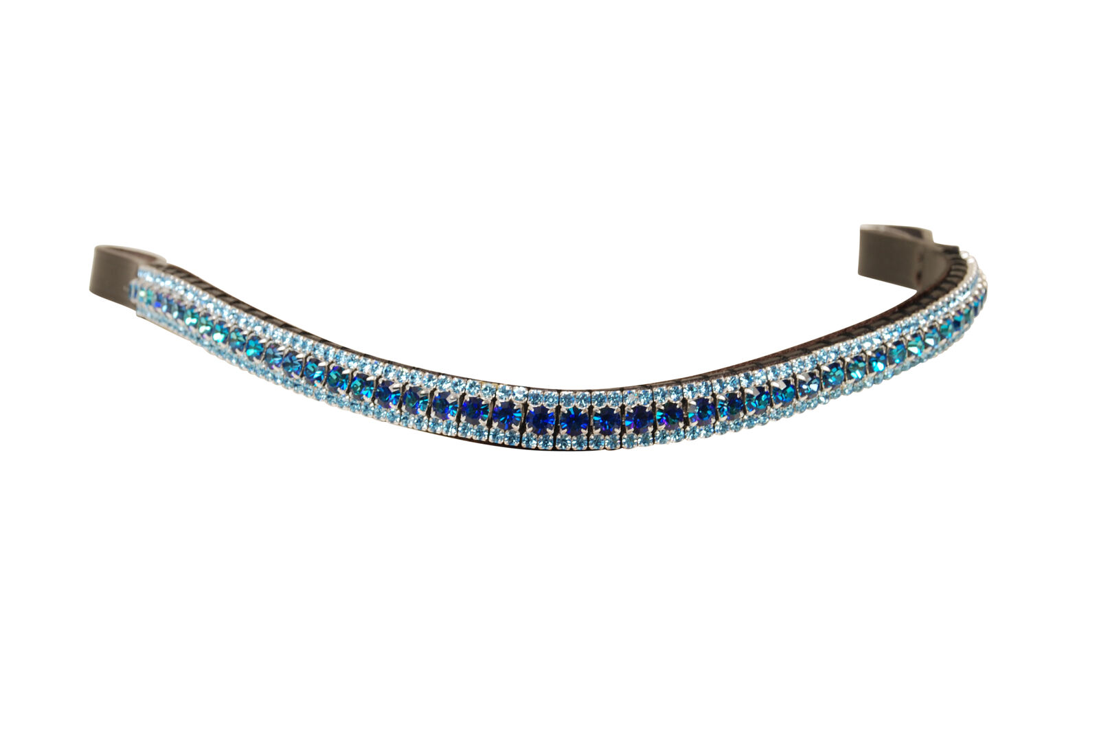 Equiture Bermuda bluee and Aqua Curve Browband