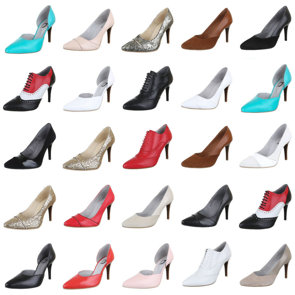 LEDER HIGH HEELS PUMPS DAMENSCHUHE apdl