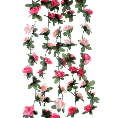 Artificial Rose Flowers Ivy Vine Garland  Hanging Silk Backdrop Decoration
