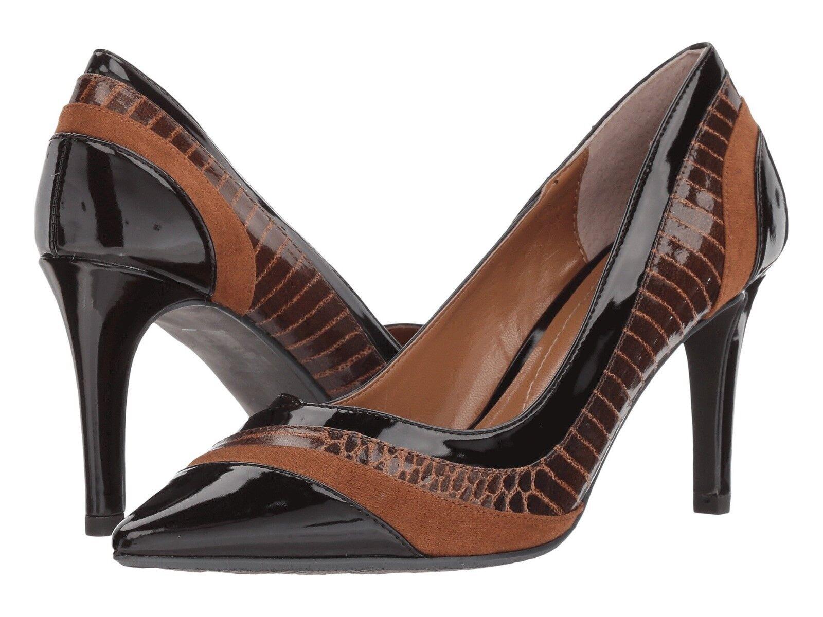 J.Renee Zarita Sz13M braun Multi Heels Classic Pump Heels Multi Snake Print Patent Suede NIB 6eebfa
