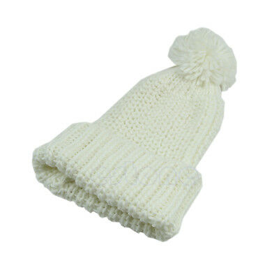 Women's Winter Slouch Knit Cap Oversized Cuffed Beanie Crochet Bobble Hat