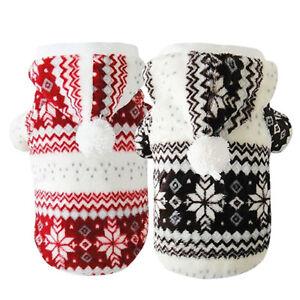 EG-Winter-Warme-Hunde-Mantel-Chihuahua-Kleidung-Haustier-Kapuzenpullover-Welpe