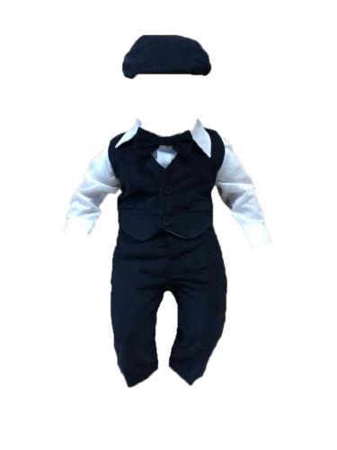 Taufanzug festanzug Mariage Costume 5 pièces Set Taille 62 68 74 80 Navi-Bleu
