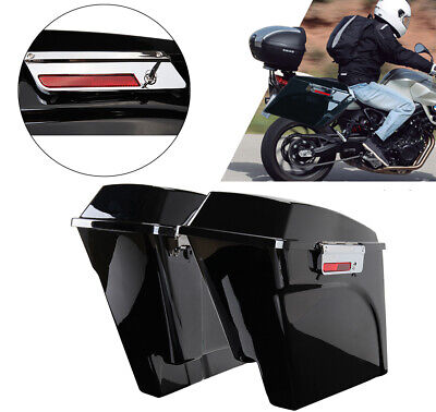 Unpainted Hard Saddle Bag Extensions Fits For Harley Touring Glide Models 99-13