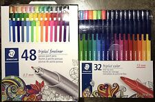 Lot 80 Staedtler Triplus Fineliner Color Porous Fiber Tip Pens Markers Artist