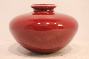 """Beautiful Cute Small Ox Blood Red Porcelain Plum Vase From Taiwan 3"""""""