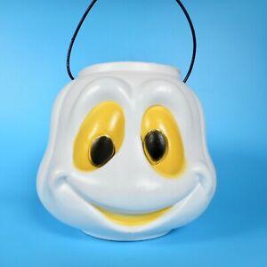 VTG General Foam Blow Mold Halloween Ghost Bucket Pail Trick or Treat White