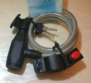 Bicycle-High-Quality-Security-Cable-Lock-8mmX1000mm-Garage-Gates-Motorcycles