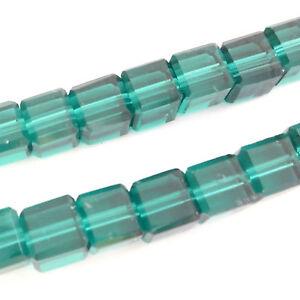 50 Qualité Verre Cristal 6 Mm Cube Perles Bleu Zircon-afficher Le Titre D'origine Gfrnlnns-10131053-905495350