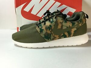 Nike-Roshe-One-SE-Camo-Mens-Running-Lifestyle-Shoes-844687-200-Olive-Size-10-5