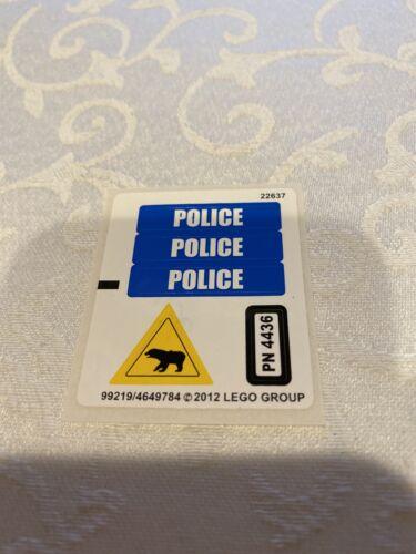 """LEGO 4436 CITY /""""PATROL CAR/"""" STICKER SHEET"""
