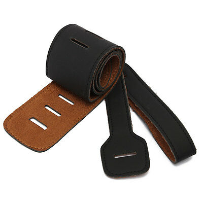 Fashion Adjustable Soft PU Leather Thick Strap For Electric Acoustic Guitar Bass