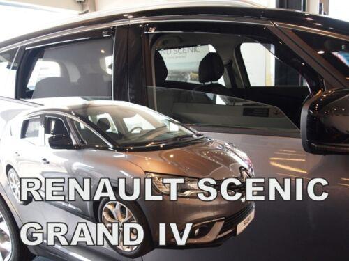 Renault Scenic mk4 5 puerta 2017-UP conjunto de 4 desviadores Heko teñida de viento