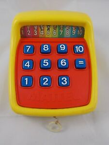 Mattel-Pull-String-NUMBERS-Pretend-Play-Toy-8-034-Long-1975