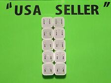 10X Original Apple Genuine OEM Usb Wall Charger Cube Adapters A1385/A1265