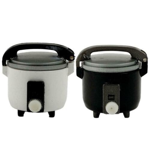 1:12 Miniature Rice Cooker Food Steamer Warmer Kitchen Dollhouse Cookware K5W9