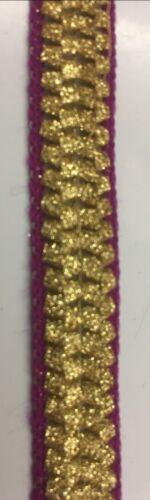 Ribbon Trim Bracelet Couture Robe Sac nuptiale décoration largeur 1.5 cm violet