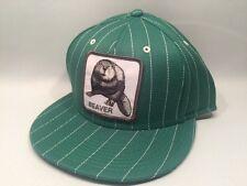 Goorin Bros Beaver Snapback Cap Hat $35 Green Pinstripe