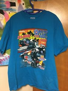 2001-AAA-Auto-Club-NHRA-Finals-T-shirt-Large-Pomona-California-Drag-Racing-Blue