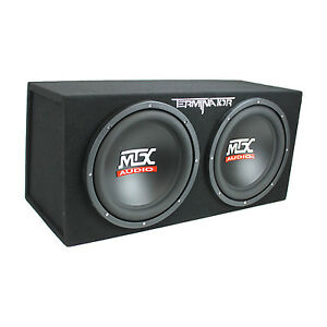 MTX-TNE212D-12-Inch-1200-Watt-Car-Audio-Dual-Loaded-Subwoofer-Box-Enclosure