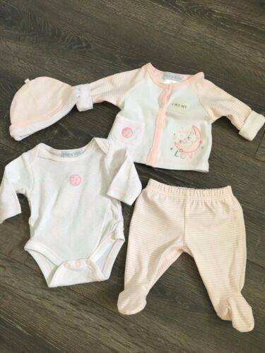 baby babies boys GIRLS 4 PIECE OUTFIT vest pants jacket hat pink n//b 0-3