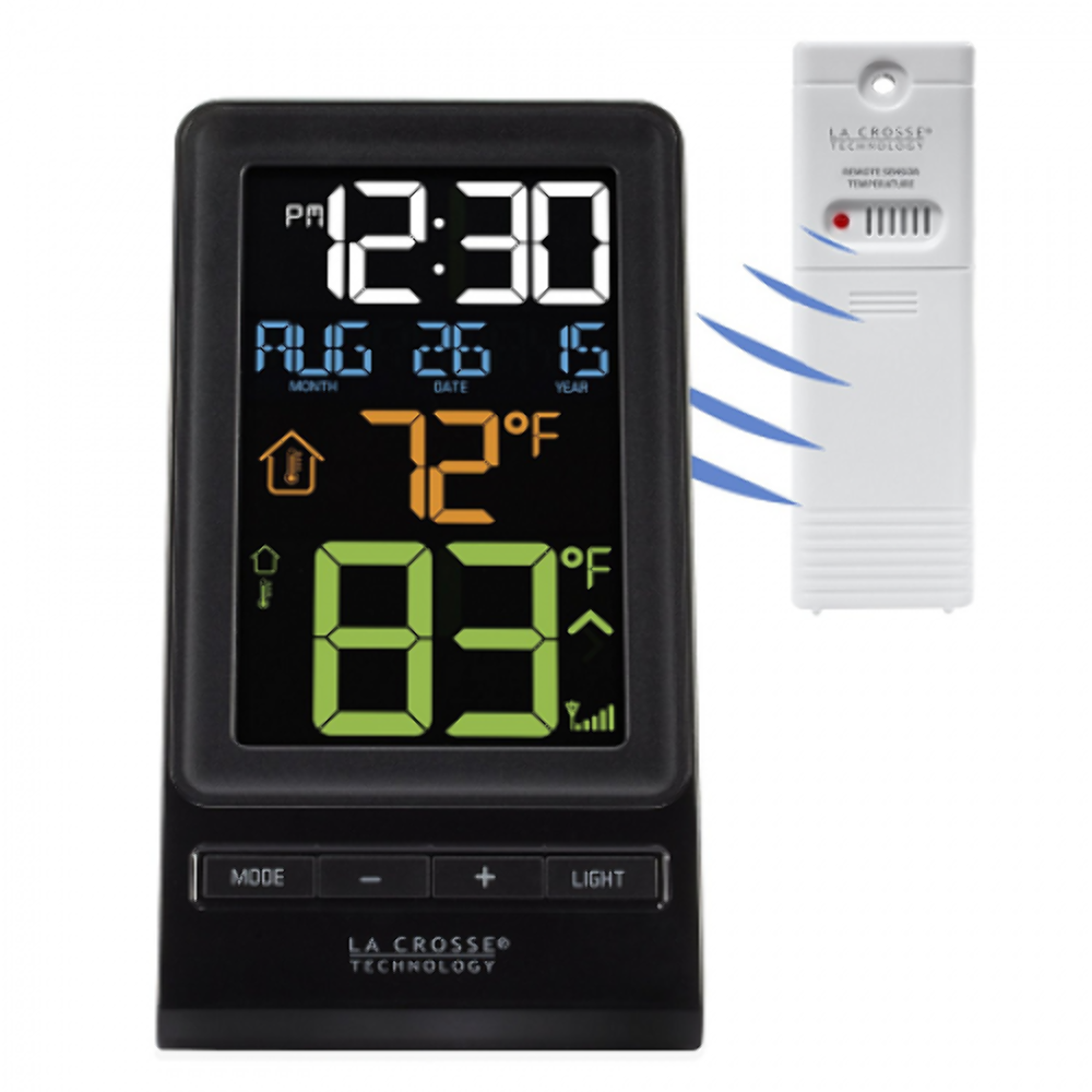 Digital, Wireless Thermometer And Clock