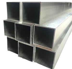 ALUMINIUM SQUARE BOX / RECTANGULAR TUBE Tube Various Sizes ...