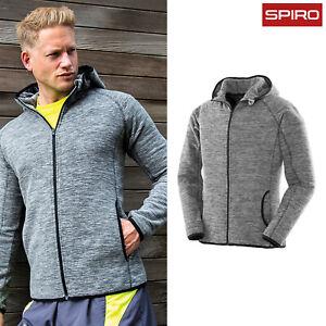 Spiro-uomo-MICROPILE-Felpa-Con-Cappuccio-Fitness-S245M-Casual-Sports-WinterWear