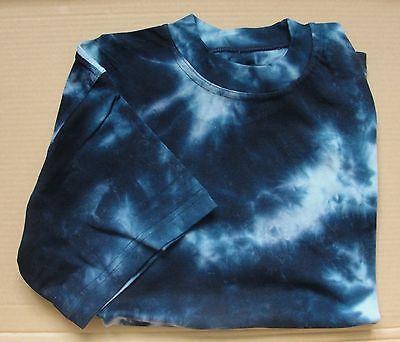 T-SHIRT BATIK Dunkel - Blau 100% Baumwolle Gr. M bis XXL neu